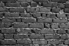Fondo del muro di mattoni invecchiato effetto scuro fotografia stock