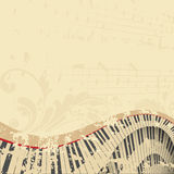 Fondo del musical de Grunge Imágenes de archivo libres de regalías