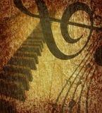 Fondo del musical de Grunge ilustración del vector