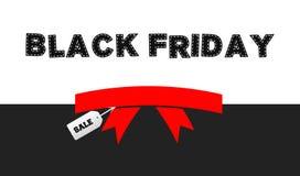 Fondo del nastro di vendita di Black Friday Immagini Stock Libere da Diritti