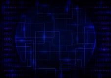Fondo del negocio de Digitaces Abstrct stock de ilustración