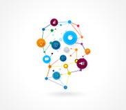Fondo del negocio de la tecnología de la cabeza humana del diseño del vector Foto de archivo libre de regalías