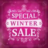 Fondo del negocio de la venta especial del invierno Imágenes de archivo libres de regalías
