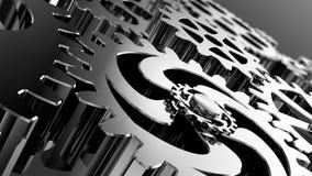 Fondo del negocio de mecanismos tecnológicos Brain Power almacen de video