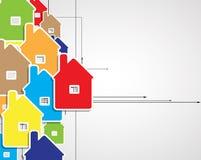 Fondo del negocio del espejo del circuito de la ciudad de las propiedades inmobiliarias Stock de ilustración