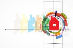 Fondo del negocio del espejo del circuito de la ciudad de las propiedades inmobiliarias Ilustración del Vector