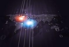 Fondo del negocio del mapa del código binario Imagen de archivo libre de regalías