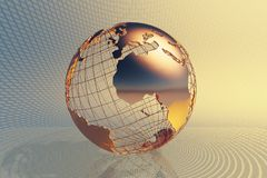 Fondo del negocio global del mundo Imágenes de archivo libres de regalías