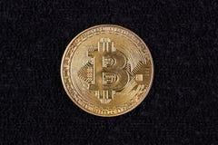 Fondo del negro de Bitcoin foto de archivo
