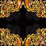 Fondo del negro del modelo de la bandera del amarillo anaranjado Imagen de archivo libre de regalías