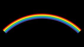 Fondo del nero del fumetto dell'icona dell'arcobaleno Fotografia Stock