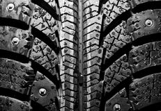 Fondo del neumático del invierno Foto de archivo libre de regalías