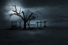 Fondo del nght di Halloween Fotografia Stock