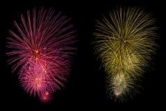 Fondo del nuevo-año de los fuegos artificiales que brilla intensamente Fotografía de archivo