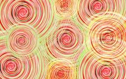 Fondo del nuovo anno con i cerchi di vortice dei colori rossi, verdi e gialli Fotografia Stock Libera da Diritti