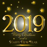 Fondo del nuovo anno con progettazione del testo dell'oro royalty illustrazione gratis