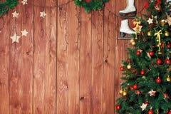 Fondo del nuovo anno di Buon Natale Fotografie Stock