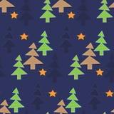 Fondo del nuovo anno di Natale di notte degli alberi forestali royalty illustrazione gratis