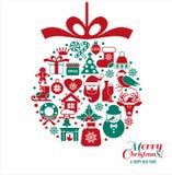 Fondo del nuovo anno e di Natale Fotografia Stock Libera da Diritti