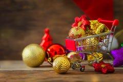 Fondo del nuovo anno e di Natale Fotografie Stock