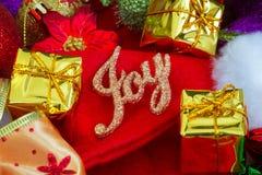 Fondo del nuovo anno e di Natale con le decorazioni Immagini Stock