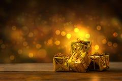 Fondo del nuovo anno e di Natale con le decorazioni Fotografia Stock Libera da Diritti