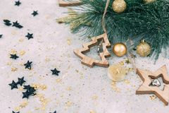 Fondo del nuovo anno o di Natale, fotografie stock libere da diritti