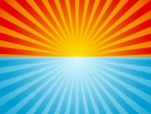 Fondo del océano de la salida del sol Imágenes de archivo libres de regalías