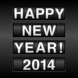 Fondo 2014 del odómetro de la Feliz Año Nuevo Imagenes de archivo
