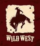 Fondo del oeste salvaje Imagenes de archivo