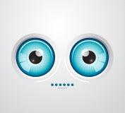 Fondo del ojo stock de ilustración