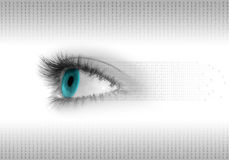 Fondo del ojo de Digitaces Foto de archivo