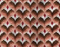 Fondo del ornamento del bordado con los corazones Modelo inconsútil handmade Foto de archivo libre de regalías