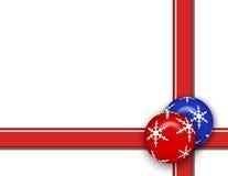 Fondo del ornamento de la Navidad Fotografía de archivo libre de regalías