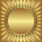 Fondo del oro Imágenes de archivo libres de regalías