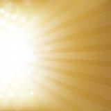 Fondo del oro con la estrella stock de ilustración