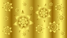 Fondo del oro con las estrellas 2 Imagen de archivo libre de regalías