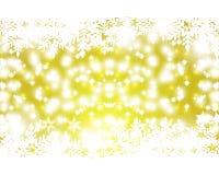 Fondo del oro de la Navidad Imagenes de archivo