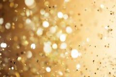 Fondo del oro de la Navidad Fotografía de archivo libre de regalías