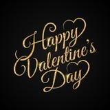 Fondo del oro de las letras del vintage del día de San Valentín libre illustration