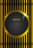 Fondo del oro del metal Foto de archivo libre de regalías