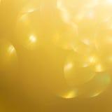Fondo del oro, Feliz Año Nuevo de la luz de oro abstracta del bokeh Imagen de archivo libre de regalías