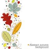 Fondo del otoño con las hojas Imagen de archivo libre de regalías