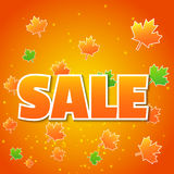 Fondo del otoño con las hojas coloreadas libre illustration