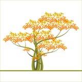Fondo del otoño con un árbol Ilustración del Vector