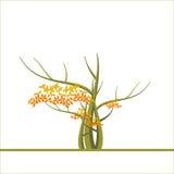 Fondo del otoño con un árbol Stock de ilustración