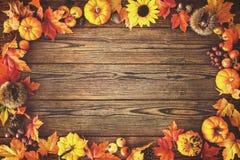 Fondo del otoño de la acción de gracias Fotografía de archivo libre de regalías