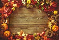 Fondo del otoño de la acción de gracias Fotos de archivo libres de regalías