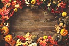 Fondo del otoño de la acción de gracias Foto de archivo libre de regalías