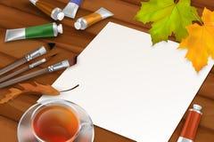 Fondo del otoño del vector Fotos de archivo